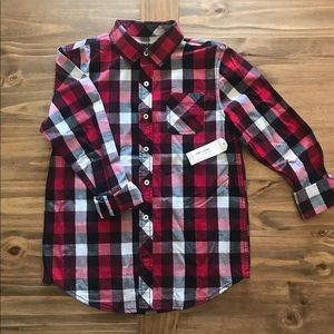 NWT: Arizona plaid button up Sz. L 14/16